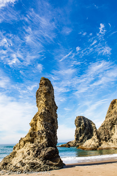Needle rock on Bandon Beach in Oregon