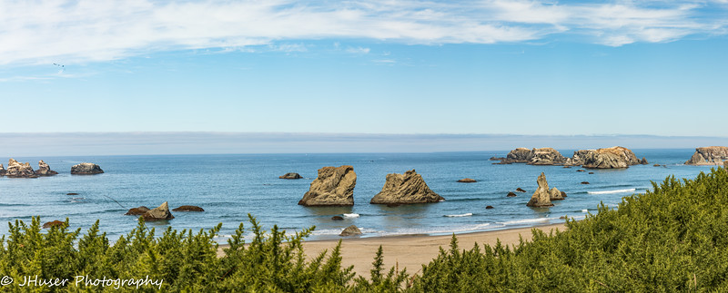 Panorama of Bandon Beach