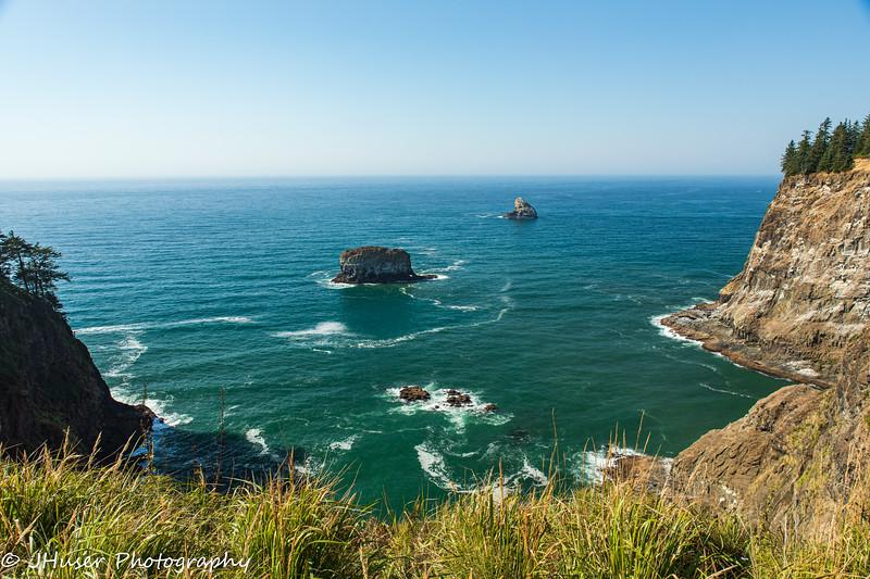 Cliffs along the Oregon coast