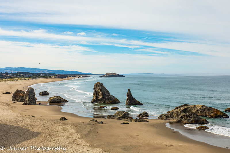 Looking down on Bandon beach in Oregon
