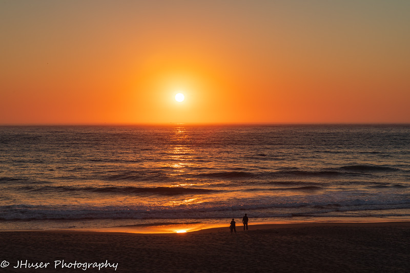 Sunset along the Oregon coast
