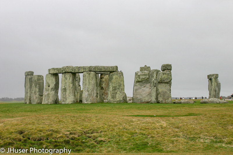 Stonehenge with people in distance to show scale