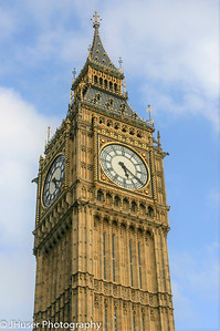 Big Ben on a bright sunny day