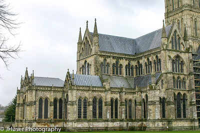 One side of Salisbury Cathedral