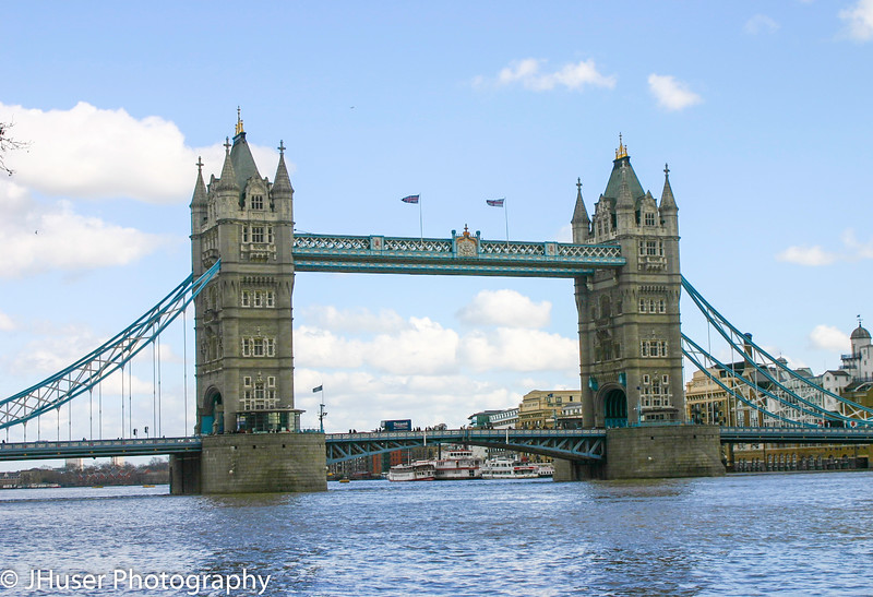 Wide view of Tower Bridge