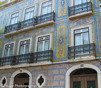 Tilework on a building in the Alfama area of Lisbon