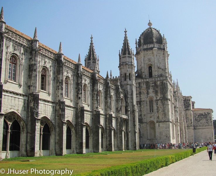 The Jeronimos Monastery in Lisbon Portugal