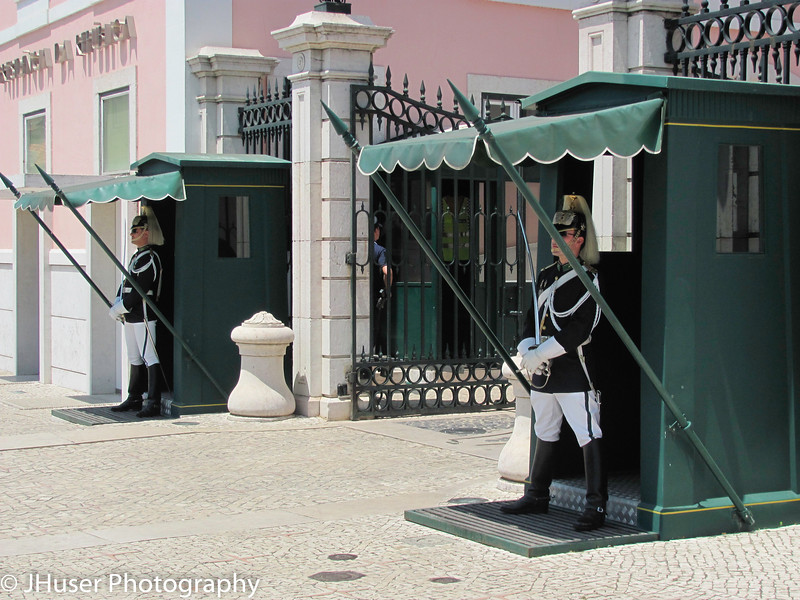 Military sentries at Belem Palace in Lisbon