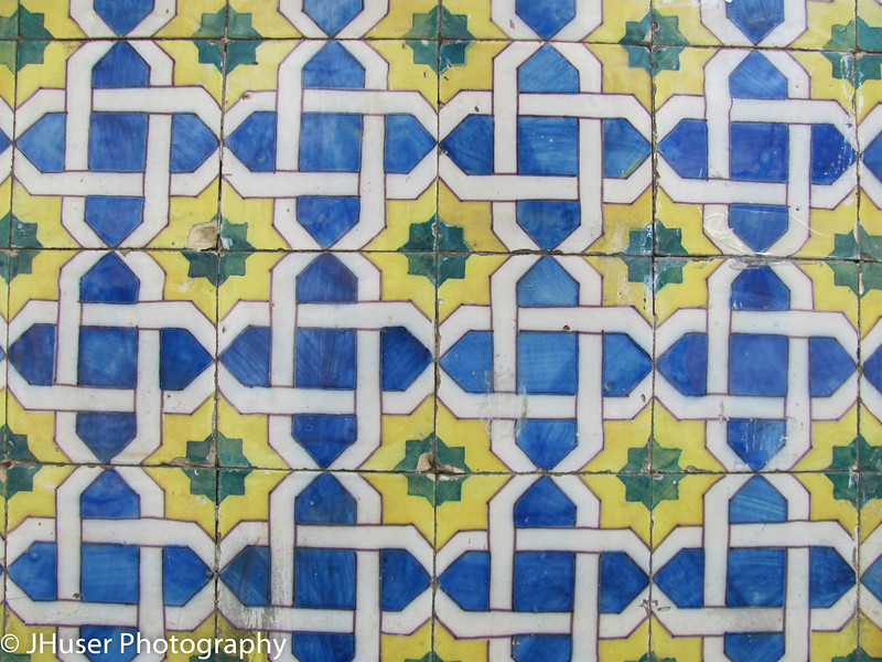 Bright colorful tilework in Lisbon