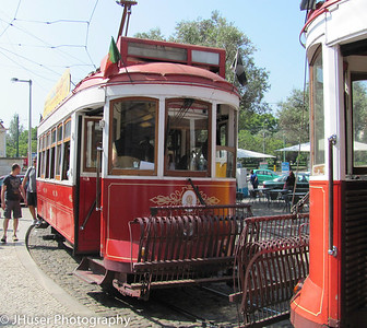 Old style electric cable cars