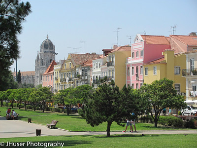 Colorful buildings in the Belem area of Lisbon