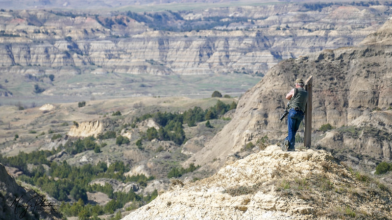 Overlooking North Dakota's Little Grand Canyon, Summit Trail