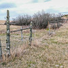 Rustic Ranch Fence Line in the Little  Missouri National Grasslands, Western North Dakota