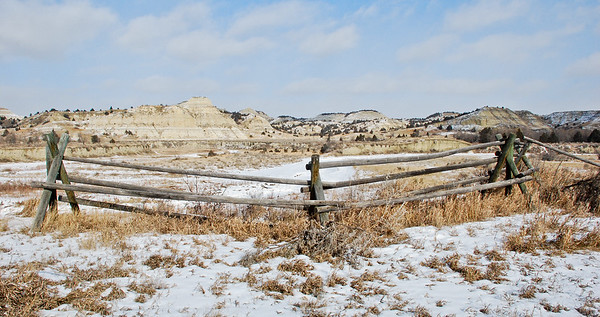 Winter in the beautiful badlands