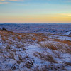 Getting Darker and Colder on Square Butte, North Dakota Badlands