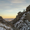 A Winter Scramble Up Square Butte, North Dakota Badlands