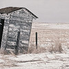 The lone standing outhouse doesn't afford much privacy here on the western border of the ghost town Trotters