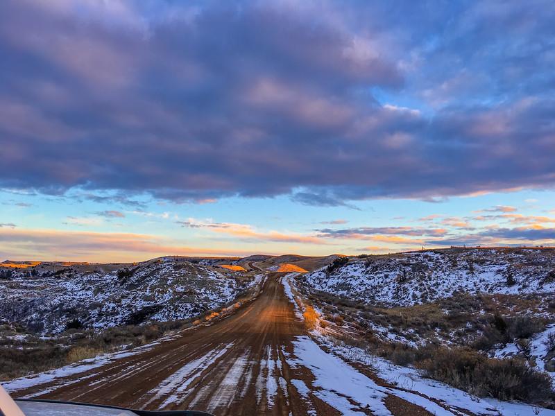 Winter on Lower Magpie Road, North Dakota