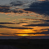 Sunset Over Camels Hump in North Dakota