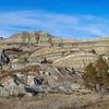 Rugged Spring Badlands Over Magpie Creek,  North Dakota
