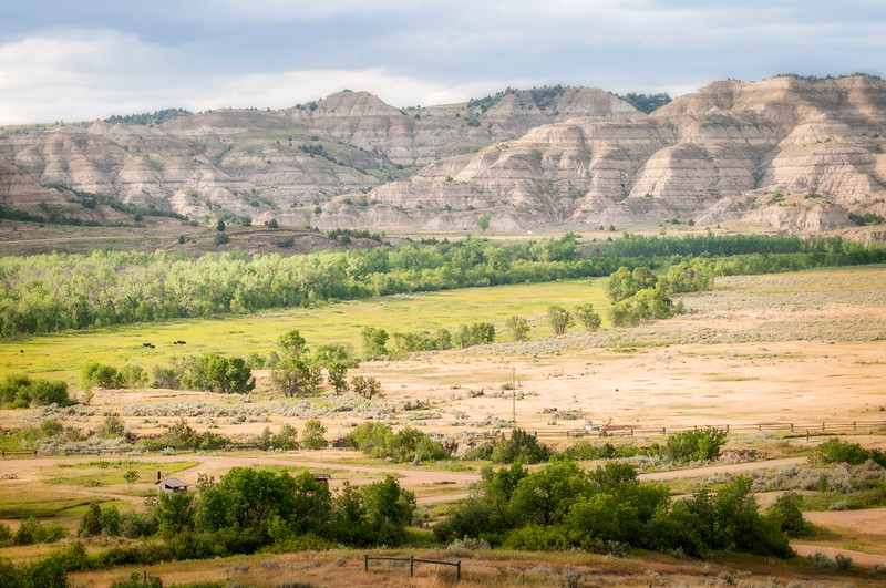 Overlooking the CCC Camp and the Little Missouri River to Theodore Roosevelt National Park, North Dakota