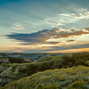Late season sunset at the North Unit of Theodore Roosevelt National Park, North Dakota