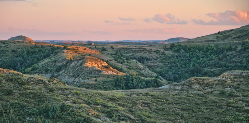 """The last of sunset above the Elkhorn Ranch, of Theodore Roosevelt's in the North Dakota Badlands.<br /> <br /> You can own this image.  Just click """"buy"""" and see all the products you can order with this image."""