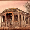 Abandoned tour car