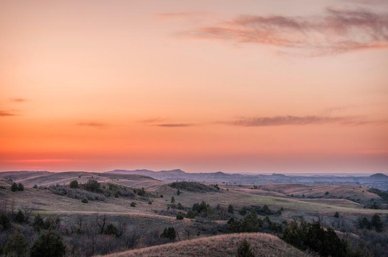 April Grasslands sunset