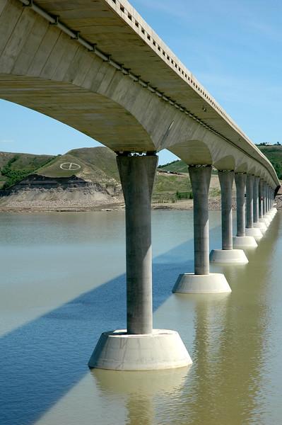 Under the Four Bears Bridge.