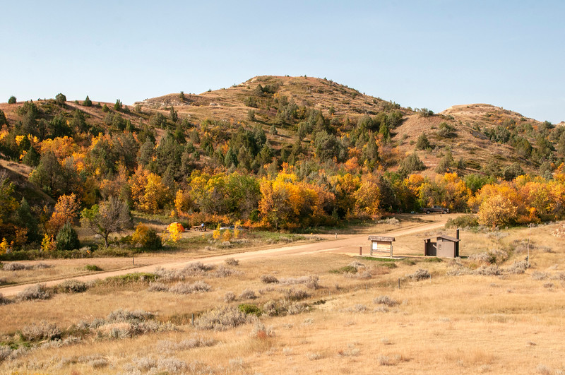 """Elkhorn Campground in the fall.<br /> <br /> <br /> You can own this image as a wall decor, coffee mug, mouse pad or other product.  Just click the """"buy"""" button to go shopping."""