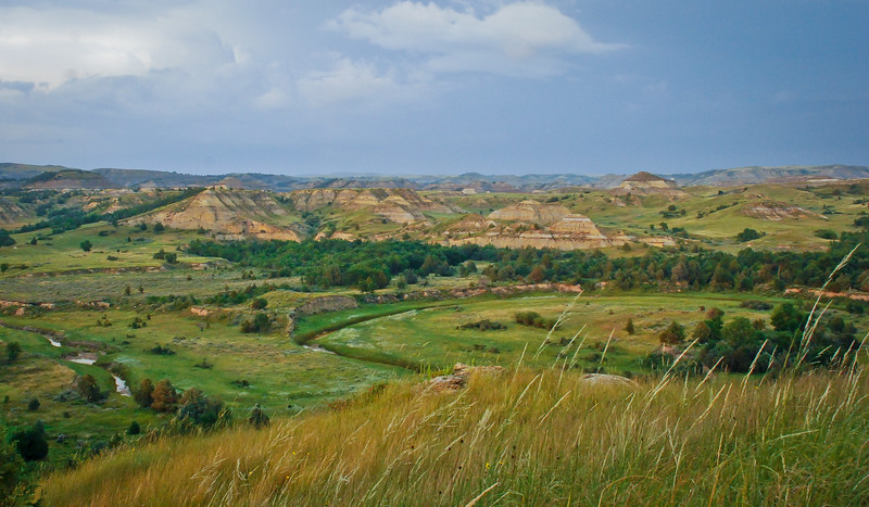 Overlooking Magpie Creek, North Dakota Badlands