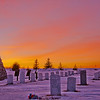 sunset at old scout cemetery gerald deane us navy tombstone