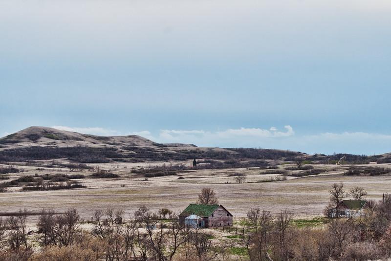 Abandoned farm below Chimney Butte
