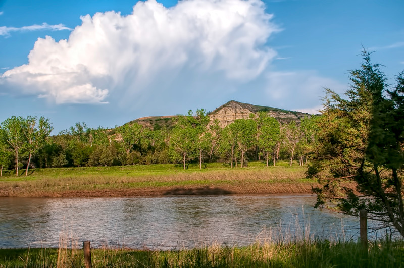 """The hill that Theodore Roosevelt writes about from his Elkhorn Ranch veranda across the Little Missouri River.<br /> <br /> You can own this image. Just click the """"buy"""" button to browse and shop."""