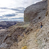 Summit trail washed away, no go.