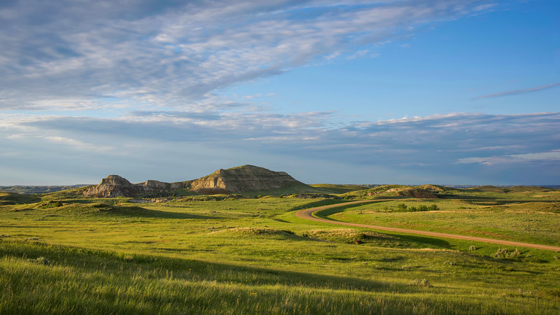 Buttes and Grasslands of West River Road, North Dakota