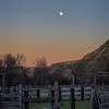 Moon over the Badlands corral