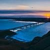 Four Bears Bridge winter sunset