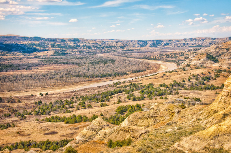 Autumn view from the Achenbach Trail at the North Unit of the Theodore Roosevelt National Park.