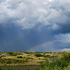 Rainbow Beyond the Hail, Summer Storm at Indian Hills, North Dakota