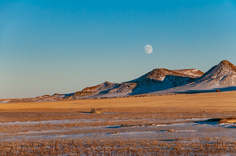 "Almost full moon over hills in southern Stark County.<br /> <br /> You can own this image as wall decor, mouse pad, coffee cup or other product.  Just click ""buy"" to browse the products you can buy here."