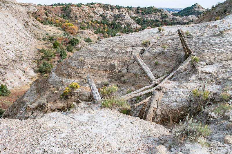 "What's left of the erosion-control guardrail.  Would you trust it?<br /> <br /> You can collect this image as wall decor, coffee mug or other product.  Just click ""buy"" to browse and shop."