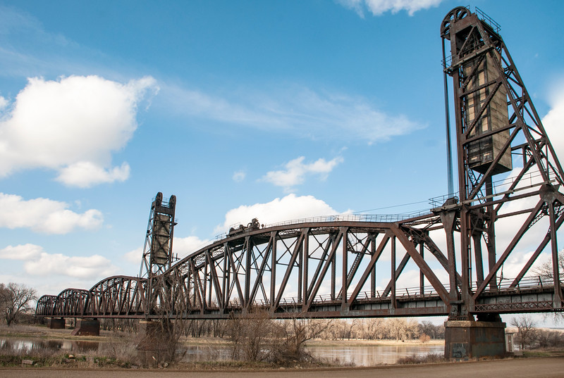 """Early spring day, blue sky, Snowden Lift Bridge<br /> <br /> You can own this print.  Browse the products when you click """"buy"""" and you'll see the products available.<br /> <br /> To learn more about the Snowden Bridge, click this link:<br /> <a href=""""https://wp.me/p8zmWn-1JM"""">https://wp.me/p8zmWn-1JM</a>"""