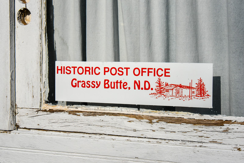 Grassy Butte, North Dakota .   Historic Post Office. #9