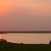 Orange Sunset at Lake Sakakawea