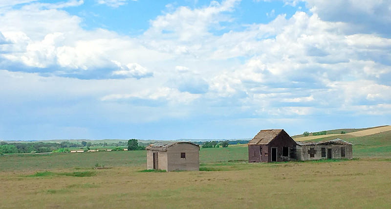 "The last 3 remaining buildings of Mondak, all on the Montana side.<br /> <br /> Click this link to read about Mondak:<br /> <a href=""https://wp.me/p8zmWn-2K5"">https://wp.me/p8zmWn-2K5</a><br /> <br /> You can own this image. Just click ""buy"" and browse the products you can get with this image."