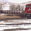 Canadian Pacific Winds Alongside the Old Red Trail