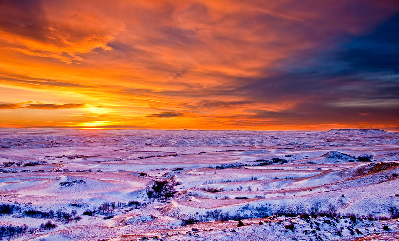 Red Winter Sunset