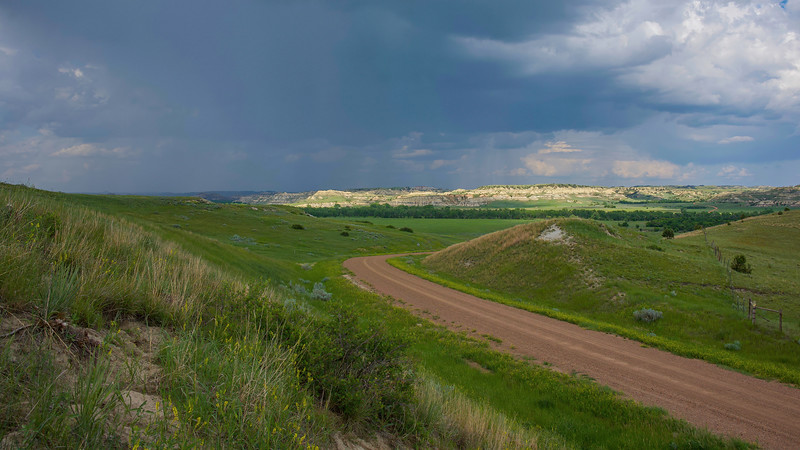 Summer Rains Approaching West River Road, North Dakota